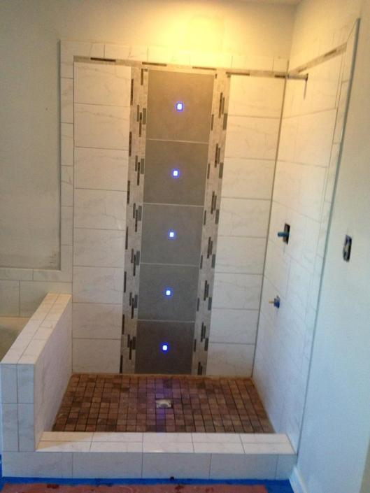 PA Shower with LED Lights